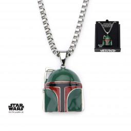 Star Wars 3d Coloured Boba Fett Pendant
