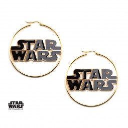 Star Wars Logo Hoop Earrings