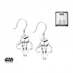 Star Wars Sterling Silver Mandalorian Earrings