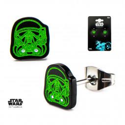 Star Wars Death Trooper Glow in the Dark Earrings