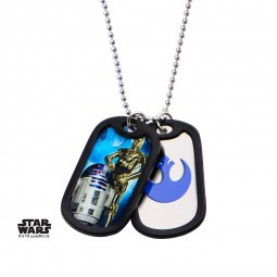 Star Wars R2D2 & C3PO Double Dog Tag