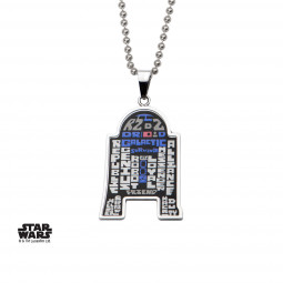 Star Wars R2D2 Art Pendant