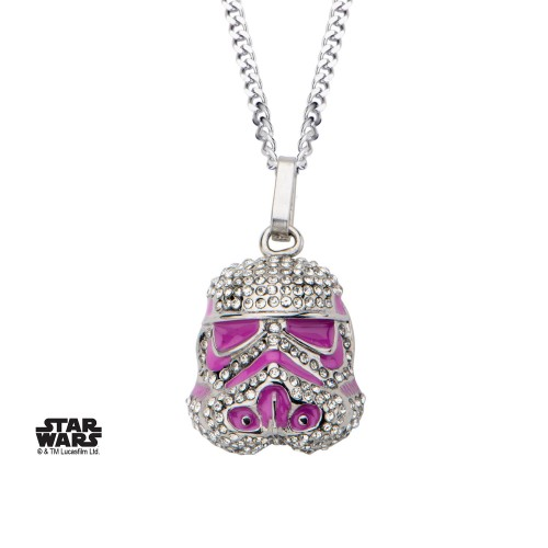 Star Wars Stormtrooper Necklace with Gems