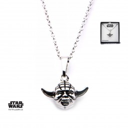 Star Wars Sterling Silver Yoda 3d Pendant