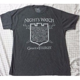 Game of Thrones Nights Watch T-Shirt LARGE only