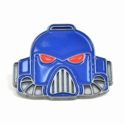 Warhammer Enamel Badge Space Marine Helmet