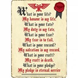 Warhammer Small Tin Sign Pledge