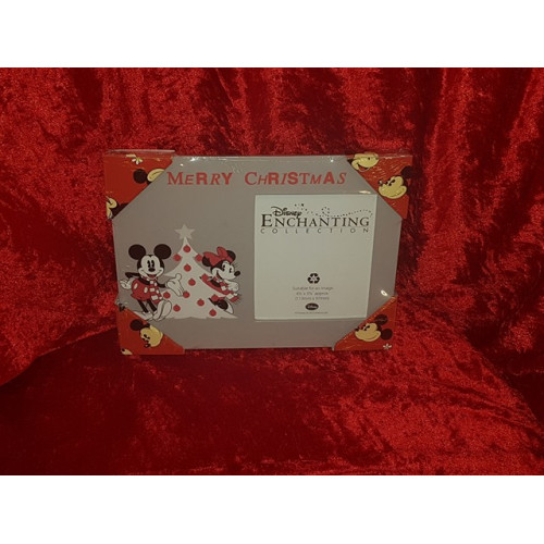 Disney Enchanting Christmas Mickey & Minnie Photo Frame