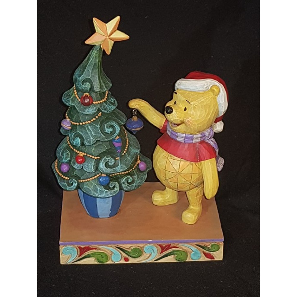 Disney Traditions Christmas Winnie The Pooh Trims The Tree