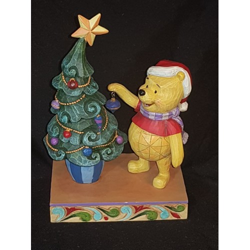 Disney Traditions Christmas Winnie the Pooh Trims the Tree