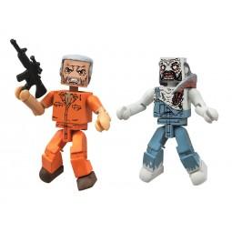 Walking Dead Series 3 Minimates Prison Hershel and Farmer Zombie